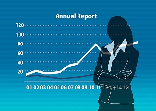 Graph representing annual report