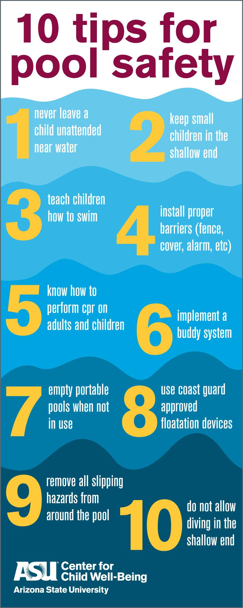 Arizona State University, ASU, #1Innovation, Pool Safety, Preventing Child drownings, how to stay safe in the pool, child drowning statistics, preventing kids from drowning, drowning deaths, pool deaths, swimming, learning to swim